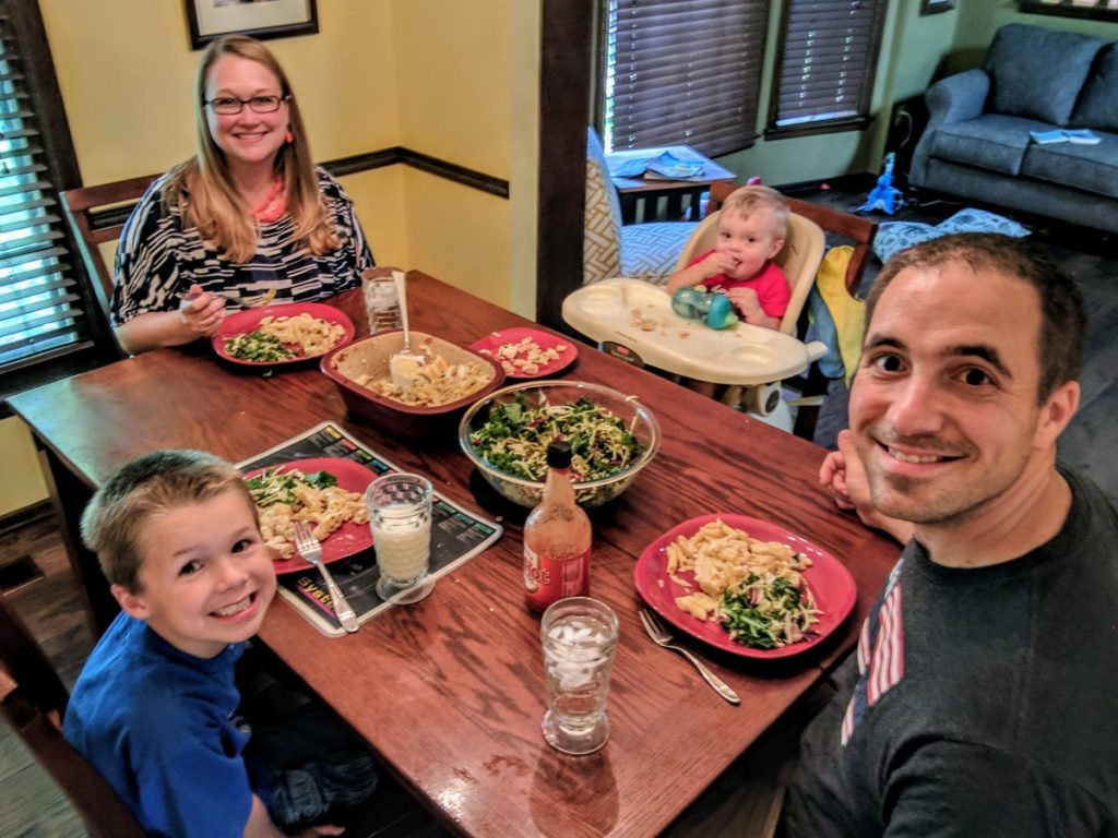 Family Enjoying Dinner made with Barilla Pasta