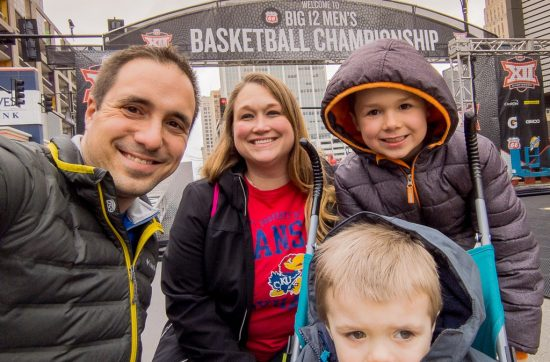 Family at the Phillips 66 Big 12 Basketball Championship