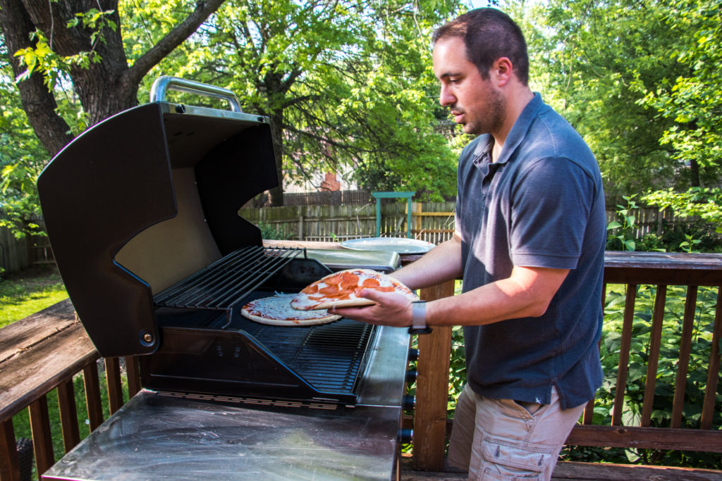 Putting Pizzas on a Char-Broil Grill