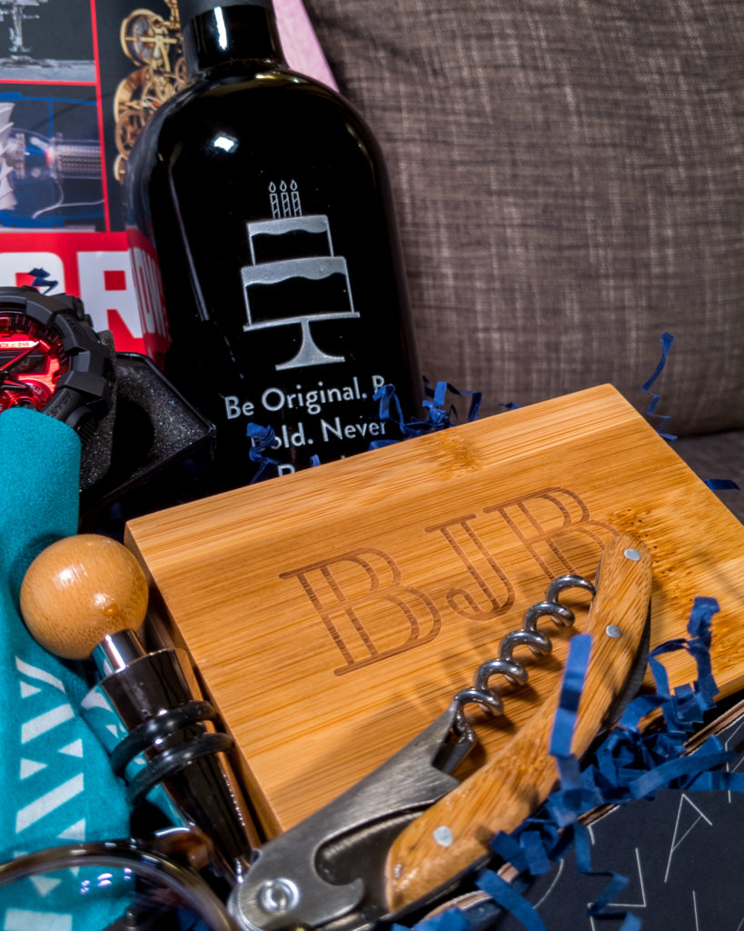 GiftTree Wine Tool and Personalized Bottle