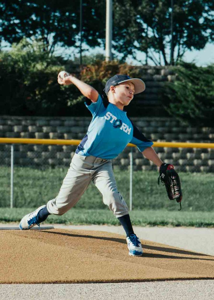 Kid Pitching In Little League