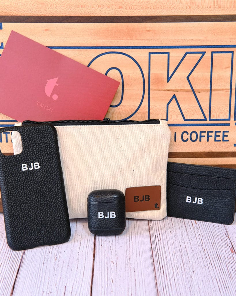 Tanon Goods Personalized Phone Case, Airpods Case, and Slim Wallet